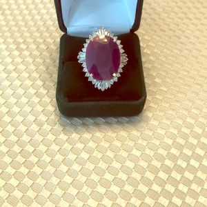 Jewelry - Ruby and Diamond cocktail ring